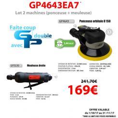 Général Pneumatic - Lot de deux machines - GP4643EA7