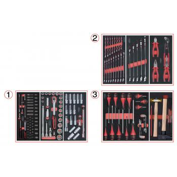 KS Tools - Composition d'outils 3 tirs - 714.0158